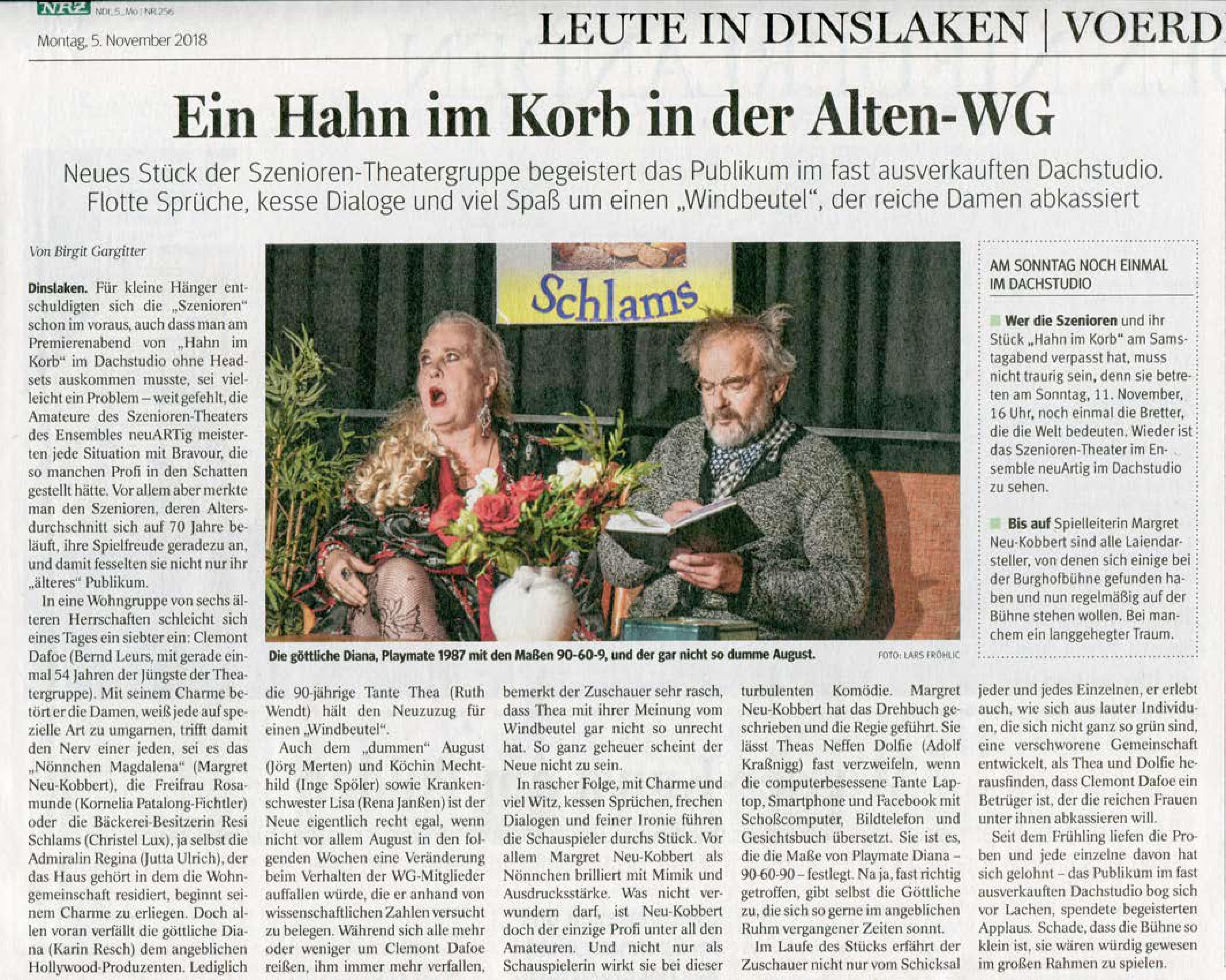 06daebf10ca6f Was für eine Premiere am 03.11.18 im Dachstudio Dinslaken!
